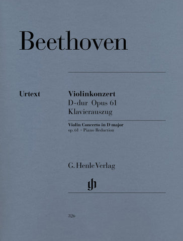 Beethoven, ed. Schneiderhan - Violin Concerto in D, Op. 61 - Violin and Piano
