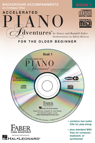 Accelerated Piano Adventures for the Older Beginner - Book 1: Lesson, 2-CD Set - Piano Method
