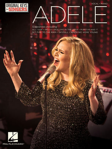 Adele – Original Keys for Singers – Piano, Vocal, Guitar