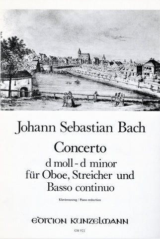 Bach, ed. Mehl, arr. Winkelhofer - Concerto in D Minor - Oboe and Piano