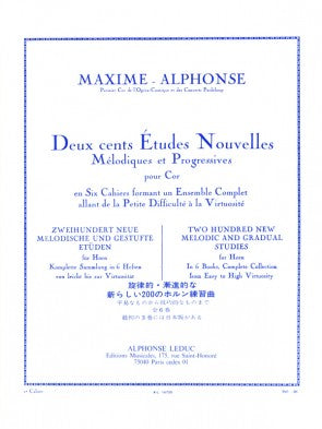 200 New Melodic and Gradual Studies for Horn Vol. 2 - Maxime-Alphonse