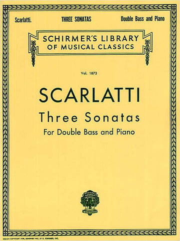 Scarlatti, ed. Drew - Three Sonatas - Contrabass and Piano