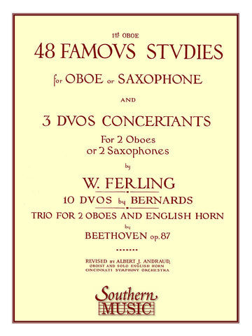 Ferling - 48 Famous Studies, etc. (1st oboe part) - Oboe or Saxophone