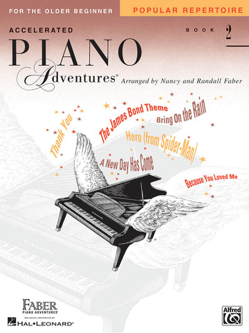 Accelerated Piano Adventures for the Older Beginner - Book 2: Popular Repertoire - Piano Methods