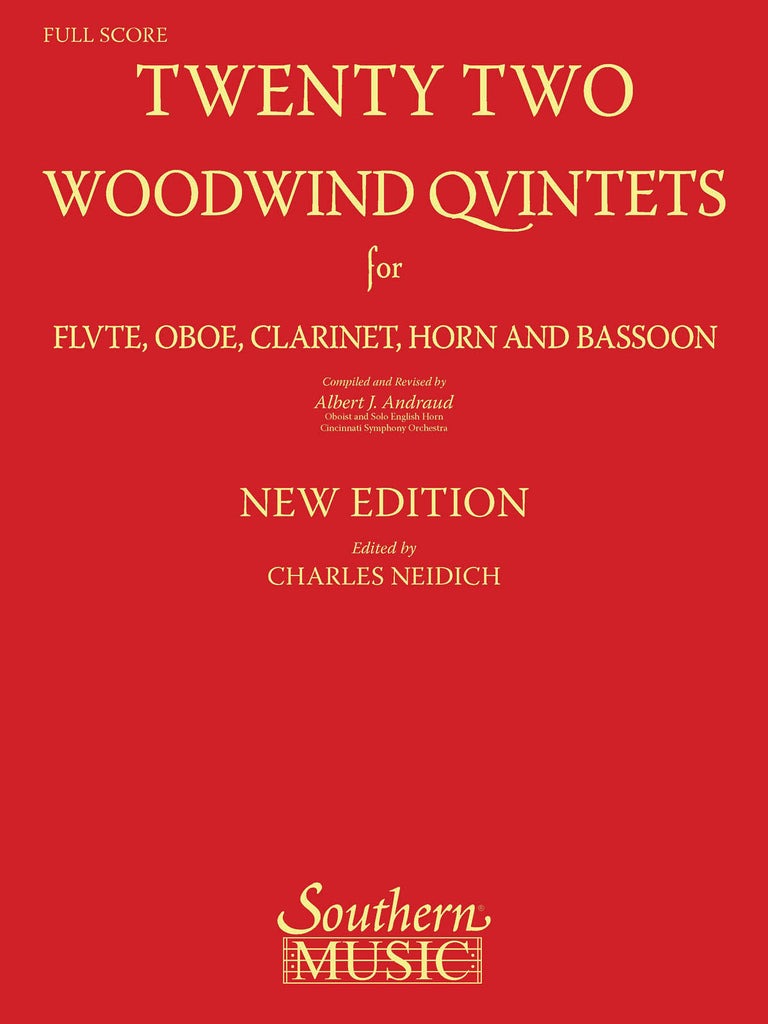 Andraud – Twenty Two Woodwind Quintets – Woodwind Quintet