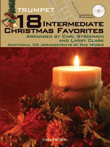 arr. Clark and Strommen - 18 Intermediate Christmas Favorites (w/CD) - Trumpet Solo