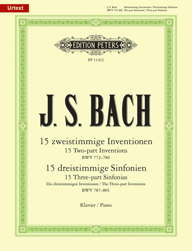 Bach – Complete Inventions and Sinfonias BWV 772-801 – Piano