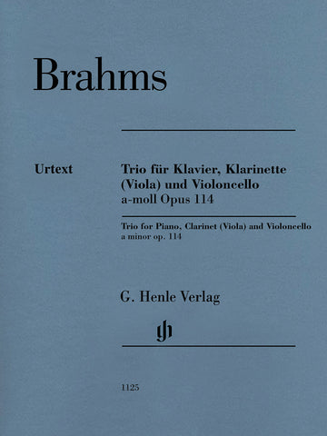 Brahms - Trio in A Minor, Op. 114 - Piano, Clarinet (Viola), and Cello