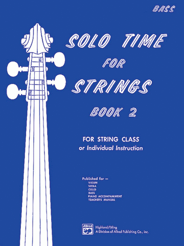 Etling, ed - Solo Time for Strings, Vol. 2: Contrabass - Contrabass