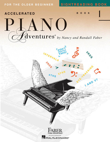 Accelerated Piano Adventures for the Older Beginner - Book 1: Sightreading - Piano Methods
