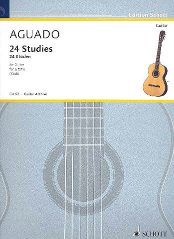 Aguado, arr. Koch – 24 Studies for Guitar – Guitar Method