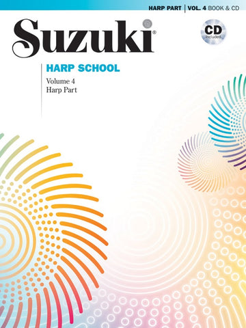 Suzuki Harp School, Vol. 4 (w/CD) - Harp Method