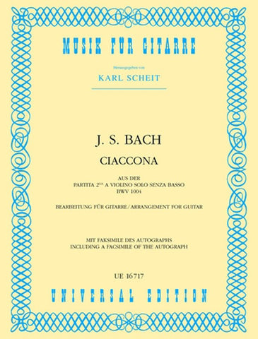 Bach, ed. Scheit - Ciaccona (Chaconne) - Guitar Solo
