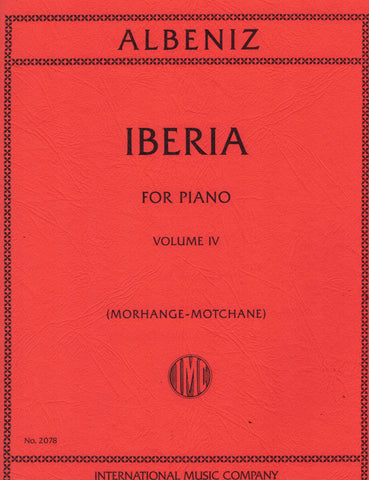 Albeniz – Iberia, Vol. 4 – Piano