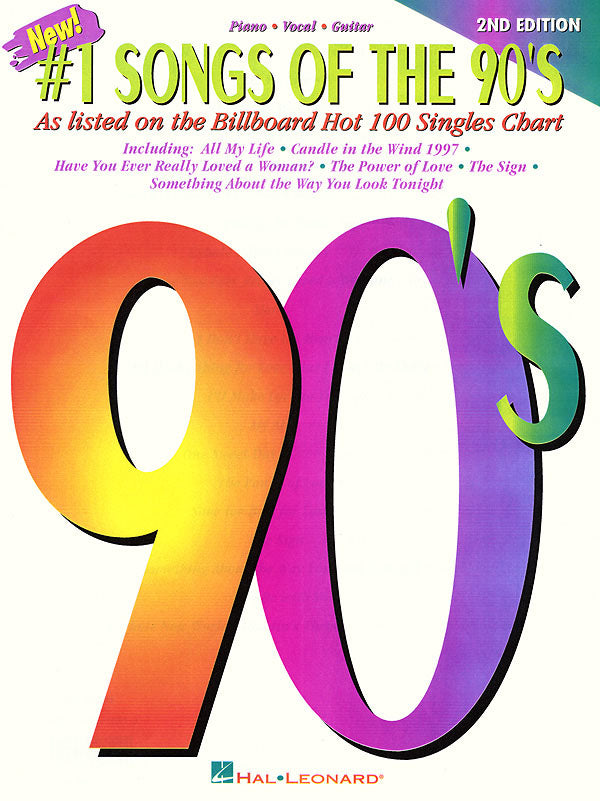 Various – No. 1 Songs of the '90s – Piano, Vocal, Guitar
