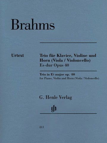 Brahms - Trio in Eb Major, Op. 40 - Piano, Violin, and Horn