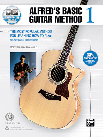 Alfred's Basic Guitar Method 1 (3rd Ed.) (w/Audio Access) - Guitar Method