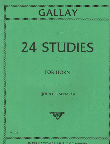 Gallay, ed. Cerminaro - 24 Studies - Horn Method