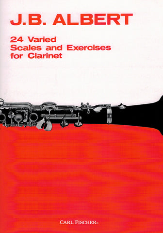 Albert, ed. de Ville – 24 Varied Scales and Exercises for Clarinet – Clarinet Method