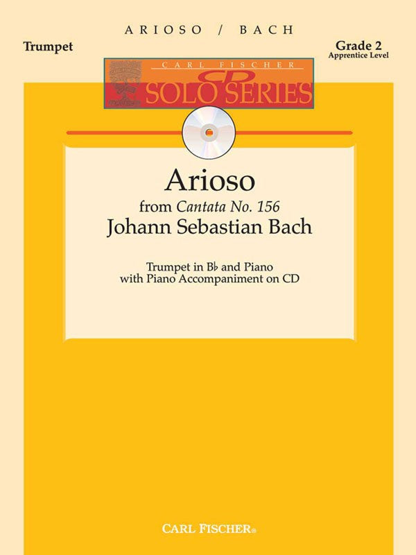 Bach - Arioso From 'Cantata No. 156' (w/CD) - Trumpet and Piano