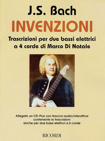 Bach - Inventions: Transcriptions for 2 Electric Basses (w/CD) - Electric Bass