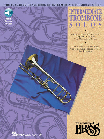 arr. Watts - The Canadian Brass Intermediate Trombone Solos (w/CD) - Trombone
