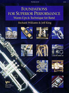 Williams and King - Foundations for Superior Performance: Warm-ups and Technique for Band - Euphonium Method