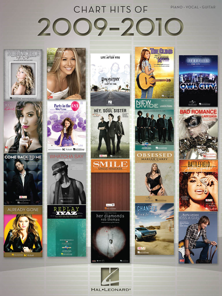 Chart Hits of 2009-2010 - Piano/Vocal/Guitar