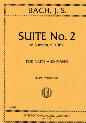 Bach, ed. Wummer - Suite No. 2 in B Minor, S. 1067 - Flute and Piano