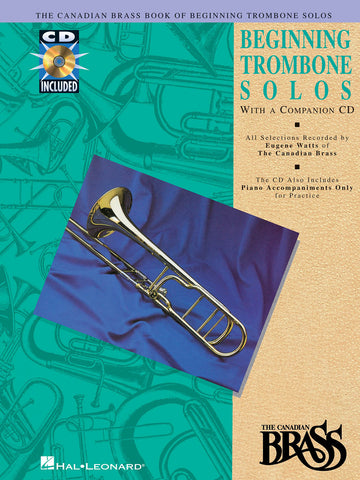arr. Watts - The Canadian Brass Beginning Trombone Solos (w/CD) - Trombone