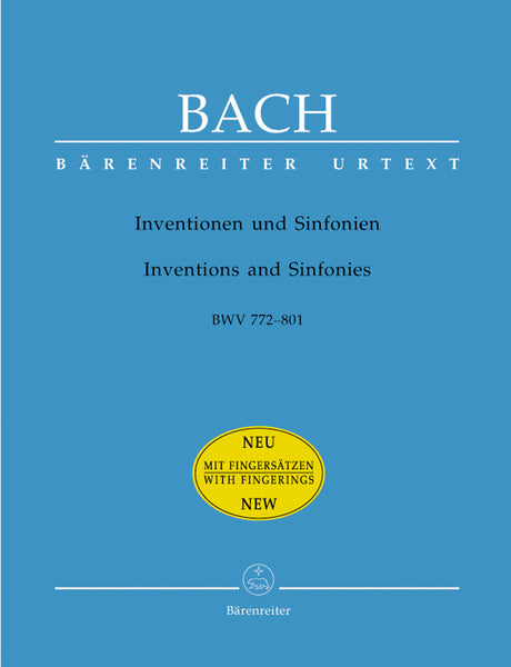 Bach - Inventions and Sinfonias, BWVs 772-801 - Piano Solo