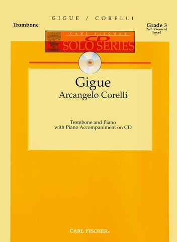 Corelli - Gigue (w/CD) - Trombone and Piano