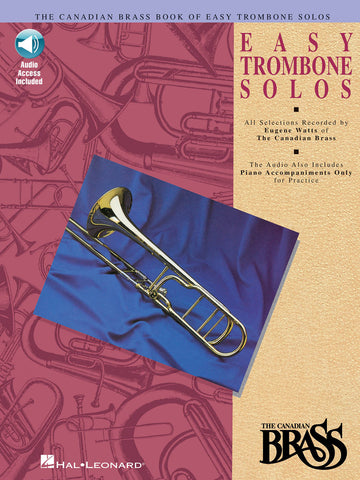 arr. Watts - The Canadian Brass Easy Trombone Solos (w/CD) - Trombone