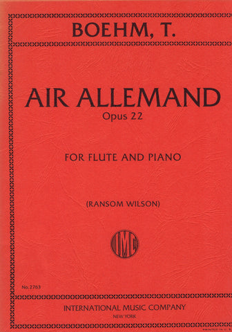 Boehm, ed. Wilson - Air Allemand, Op. 22 - Flute and Piano