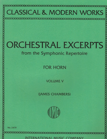 ed. Chambers - Orchestral Excerpts, Vol. 5 - Horn