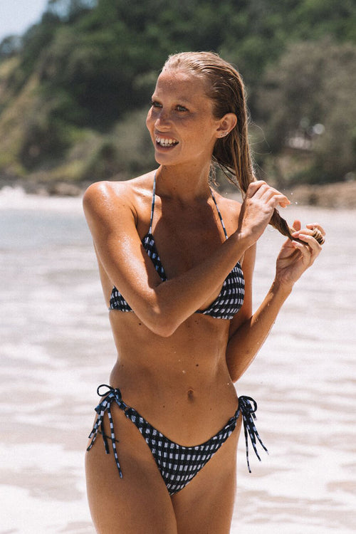 Paros Bottoms | Gingham - Sami Swim