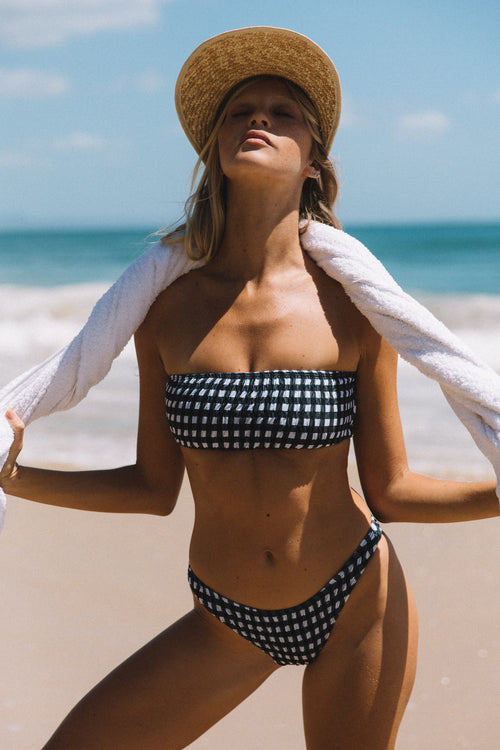 Asha Top | Gingham - Sami Swim