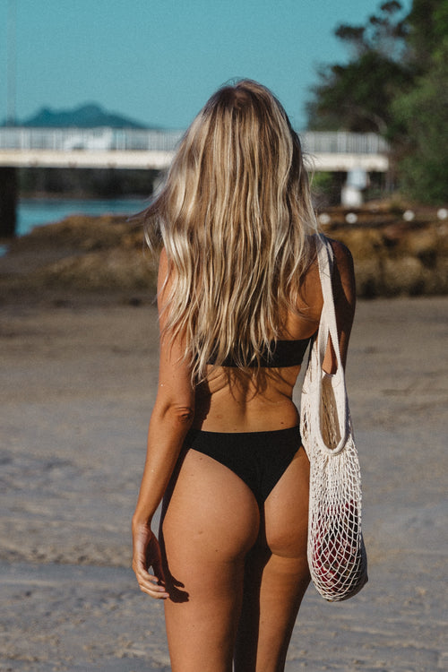 'Stella' Bottom | Black - Sami Swim