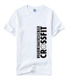 "New Arrival Short Sleeve T-Shirt ""Life Is Better When You Crossfit"" Printed T-shirts Mens O-Neck"