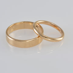 Couples create wedding rings Pip and Cliff