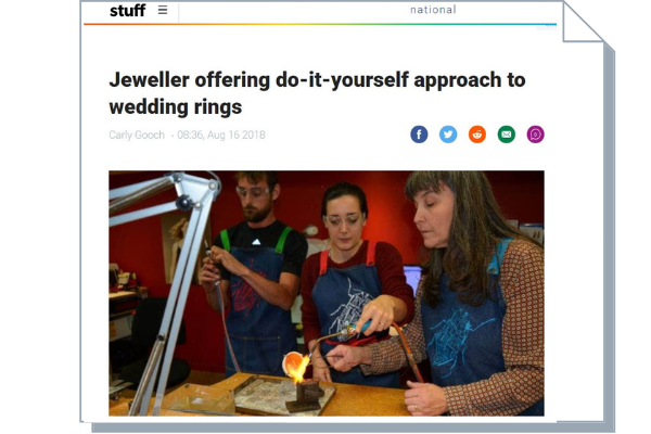 Article about wedding ring workshop at Jewel Beetle