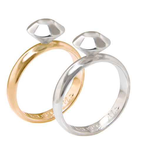 proposal ring silver and gold