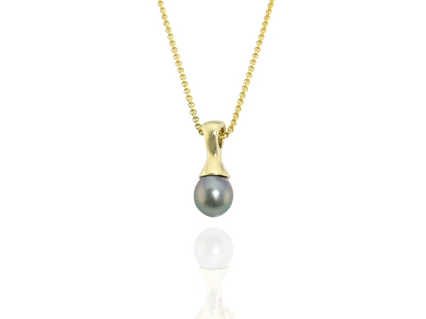black pearl pendant huahine gold