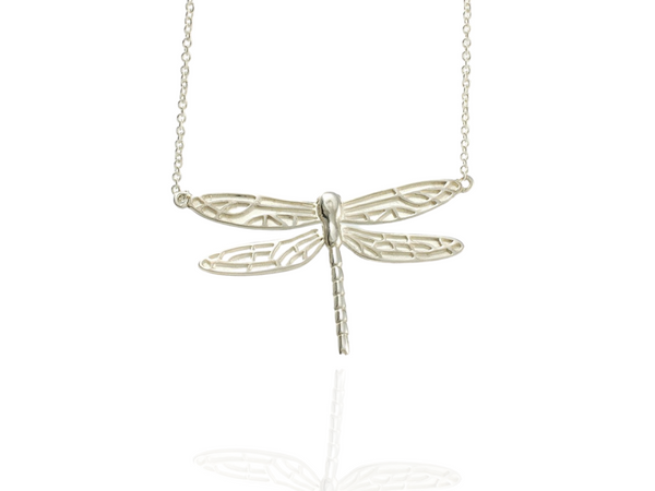 dragonfly medium pendant in silver