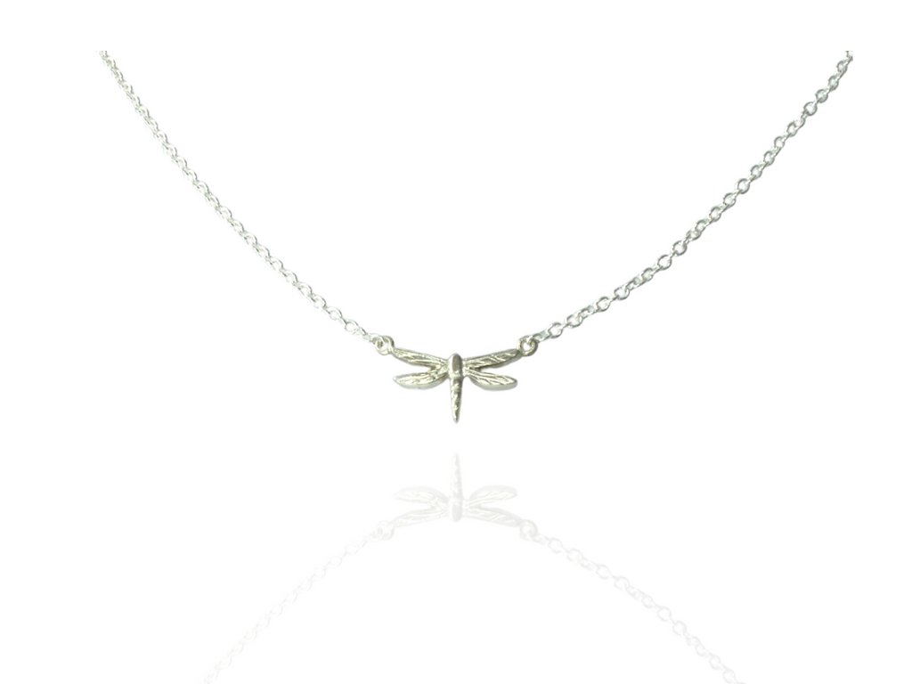 dragonfly pendant small in silver