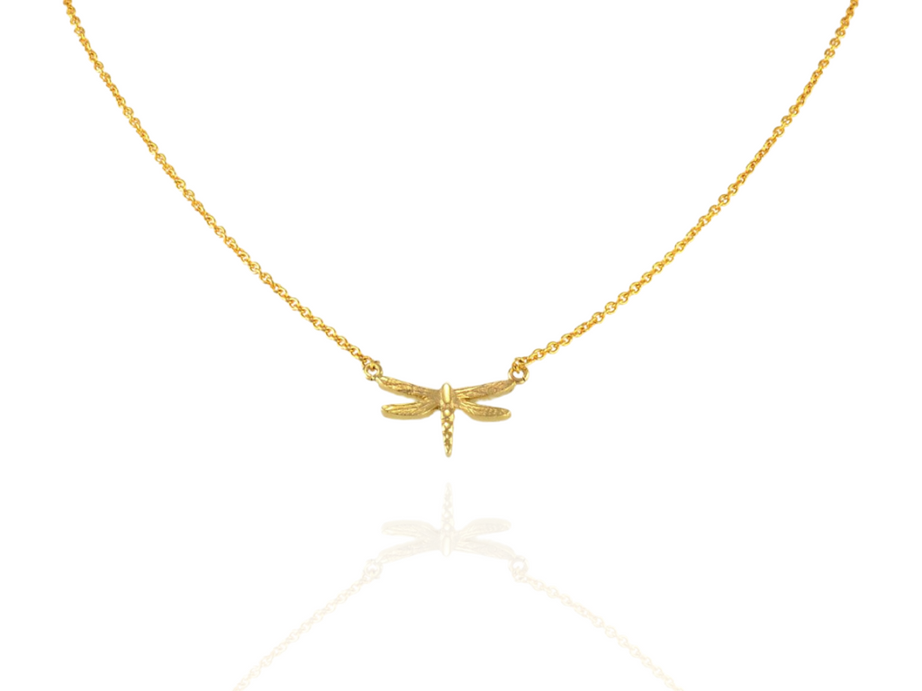 dragonfly pendant small in gold
