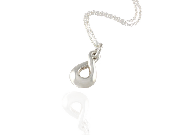 eternity twist pendant in silver