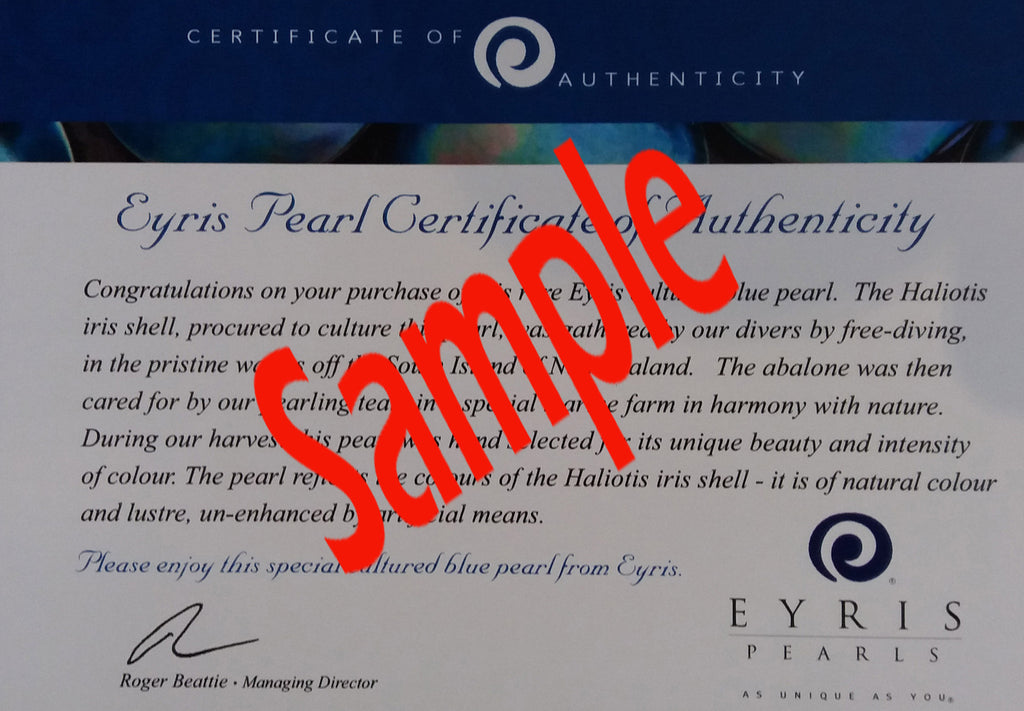 pearl certificate sample