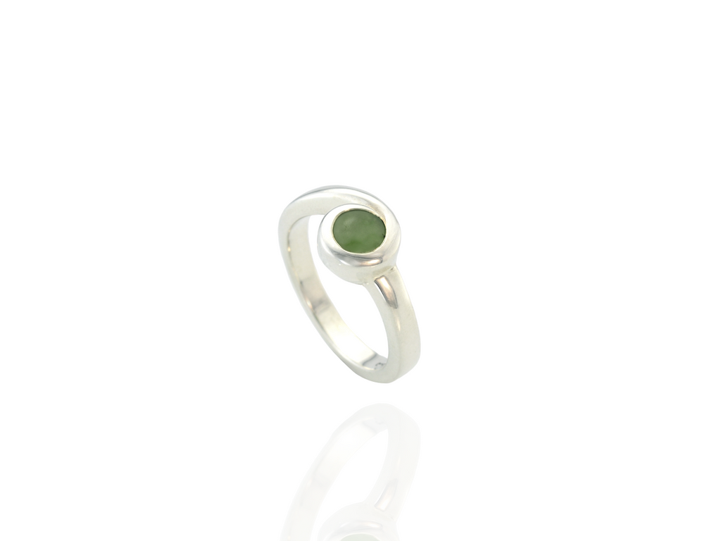 greenstone florence ring in silver