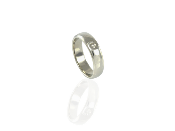 koru band ring in Palladium
